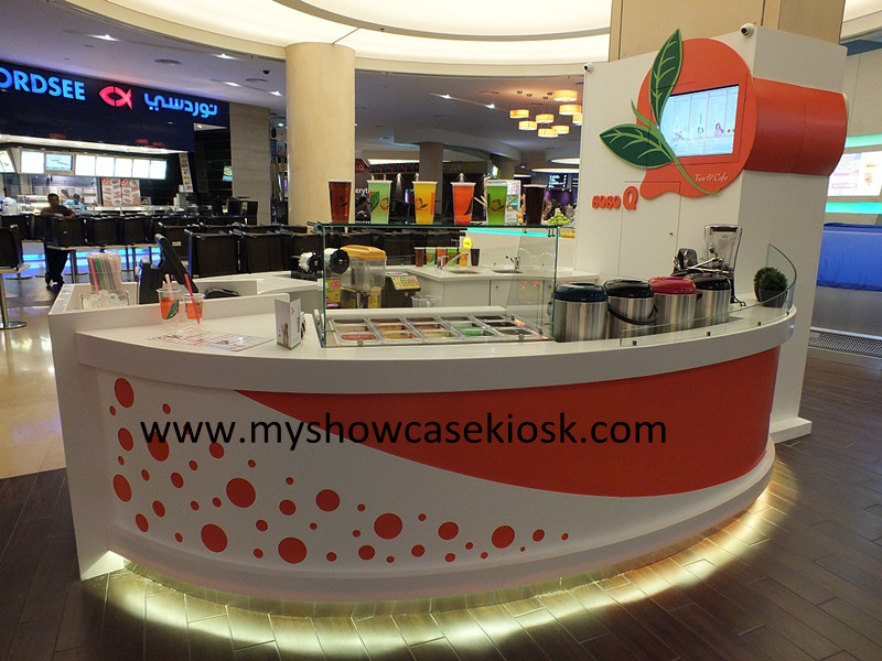 Fashion Bubble Tea Kiosk Design Food Kiosk Manufacturer
