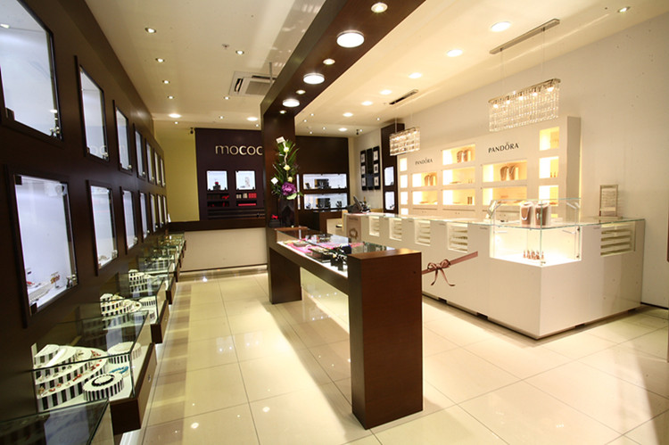 jewelry shop interior design--Customized food ,jewelry showcase