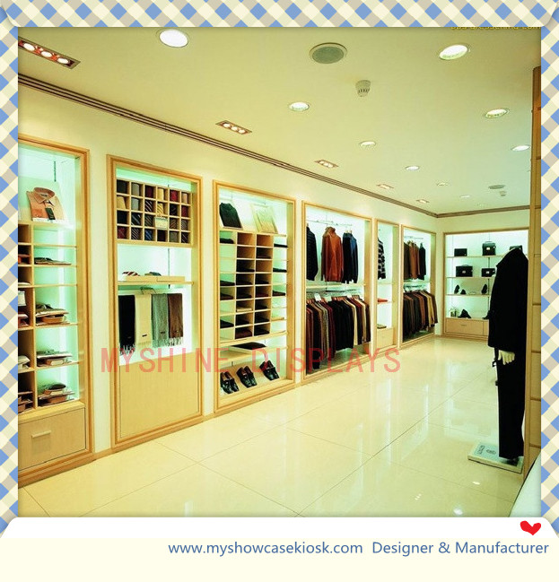 Clothing shop interior design made of MDF--Customized food ...