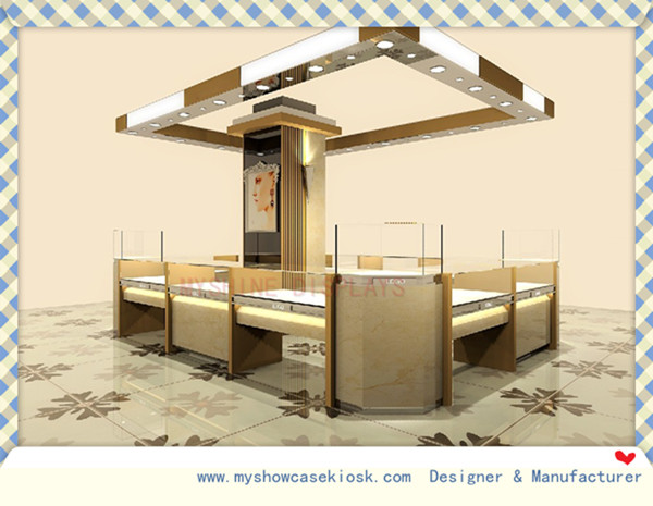 High quality store jewelry booth design at mall for sale
