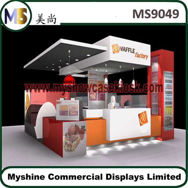 Mall Food Service Kiosk Waffle Kiosk Design For Sale To
