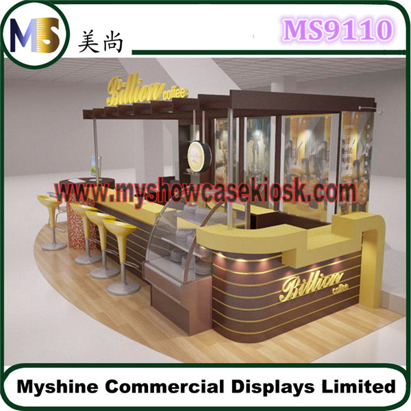 Classical mall coffee kiosk design manufacturer food for Food bar manufacturers