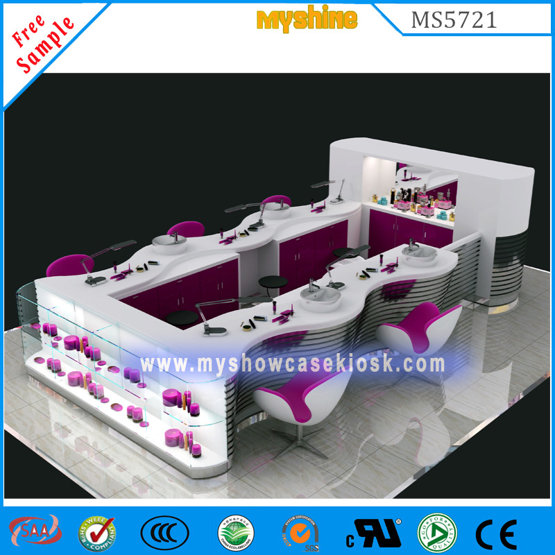 best selling shopping mall nail bar kiosk manicure table--food kiosk ...
