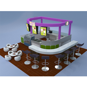 shopping mall coffee kiosk design for sale and Modern retail