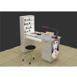 High quanlity 3d kiosk beauty cheap manicure tables sy045 for Cheap nail desk
