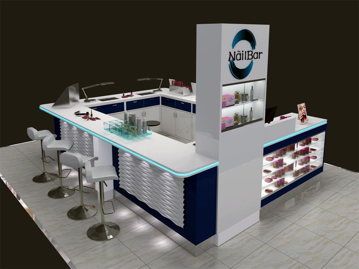 New Fashion Nail Bar Kiosk for Manicure and Pedicure Service--food ...