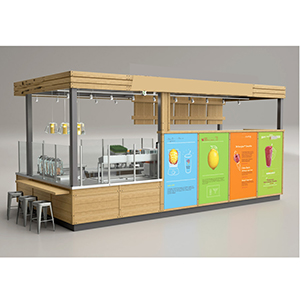 Fashional juice bar counter for sale food kiosk for Kiosco bar prefabricado