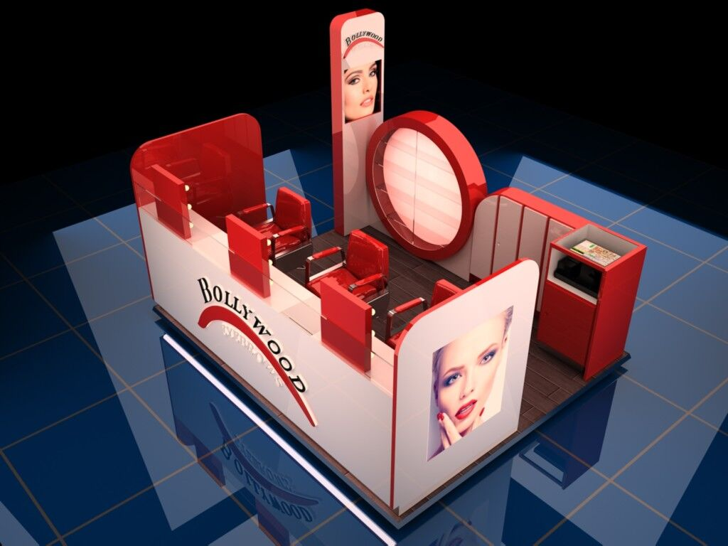 Beauty Salon Kiosk 3d Eyebrow Threading Furniture Food Kiosk