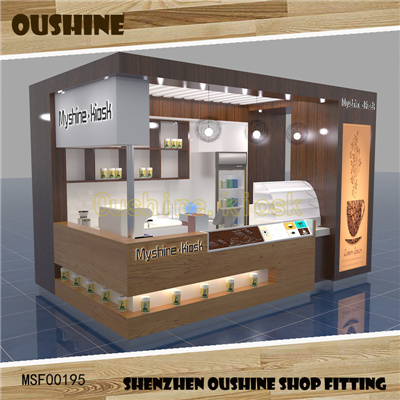 wooden indoor coffee kiosk design for sale food kiosk